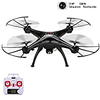 Syma X5HC 2.4 GHZ 6 Axis Gyro Barometer Altitude Hold RC Headless Mode Quadcopter Drone UFO with 2.0MP HD Camera and Floureon Propeller