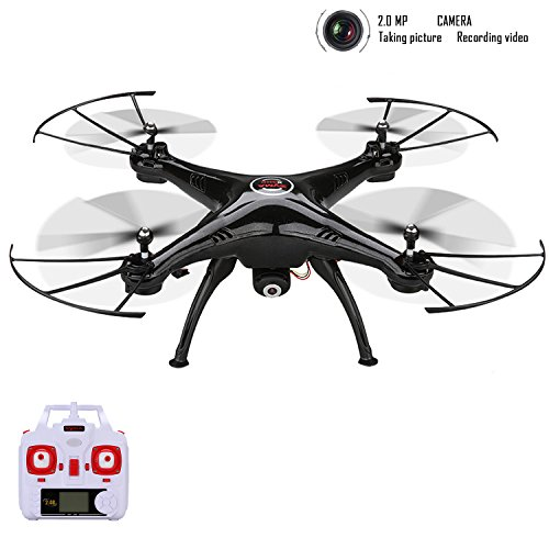 Syma-X5HC-24-GHZ-6-Axis-Gyro-Barometer-Altitude-Hold-RC-Headless-Mode-Quadcopter-Drone-UFO-with-20MP-HD-Wifi-Camera-and-Floureon-Propeller