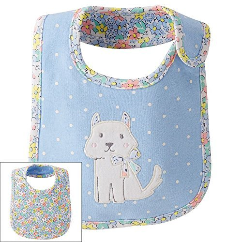 Carter's Baby Girls' Doggy Reversible Teething Bib - 1
