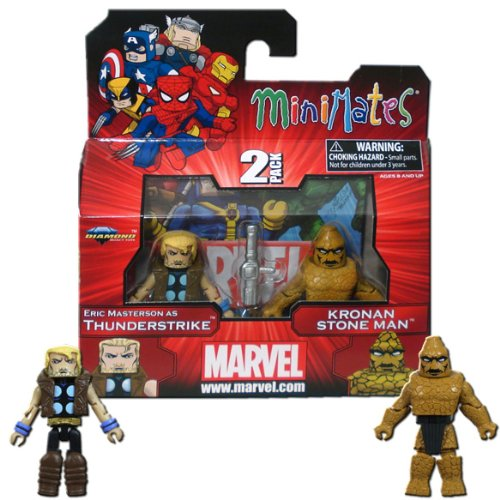 Marvel Minimates Series 42 Mini Figure 2Pack Thunderstrike Kronan Stone Man