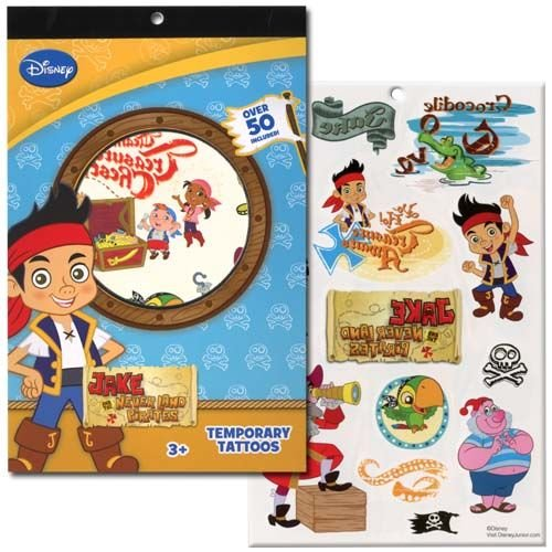 WeGlow International Jake & The Neverland Pirates 4 Sheet Tattoo Book (Set of 3)