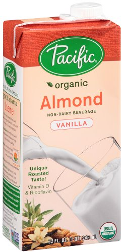 Pacific Natural Foods Organic Almond Beverage, Vanilla, 32 Ounce Boxes (Pack Of 12)