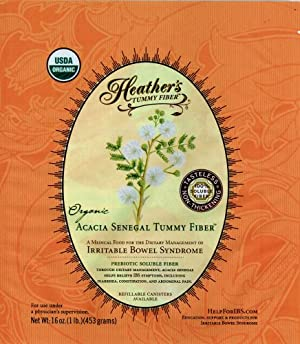 Heather's Tummy Fiber POUCH Organic Acacia Senegal  for IBS