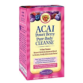 Nature's Secret Acai Power Berry Pure Body Cleanse Tablets, 56-Count Box