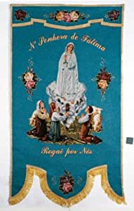 Amazon.com: STE002 Our Lady of Fatima Processional Banner: Toys