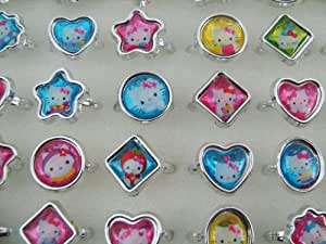 10 Rings Hello Kitty Mixed Party Filler Bag Kids Children Girls Free Postage Gifts