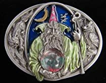 Wizard With Crystal Ball (Dragon In Crystal Ball)-enamled Belt Buckle