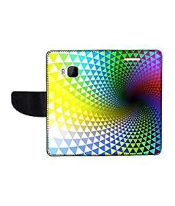 KolorEdge Printed Flip Cover For HTC One M9 Multicolor - (1478-50KeMLogo11994HTCM9)