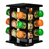 Premier Housewares Revolving Spice Rack with Schwartz Spices (Spice Rack Black Wooden 12)