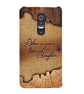 Bless Love Laughter Cute Fashion 3D Hard Polycarbonate Designer Back Case Cover for LG G2 :: LG G2 D800 D802 D801 D802TA D803 VS980 LS980