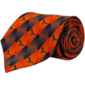 Baltimore Orioles Pattern 1 Silk Necktie by Eagles Wings