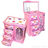 Mele Girls Musical Jewelry Box, Ballerina Jewelry Box
