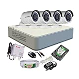 HIKVISION 4CH DS-7104HGHI-F1 MINI Turbo HD 720P DVR + HIKVISION DS-2CE16COT-IRP TURBO BULLET NIGHT VISION CAMERA 4pcs+ 1TB WD HDD + ACTIVE COPPER CABLE + ACTIVE POWER SUPPLY (FULL COMBO)