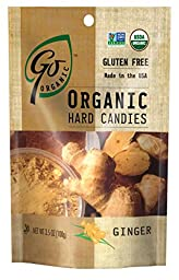 GoOrganic Ginger Gluten Free Hard Candies, 3.5-Ounce Bags (Pack of 6)