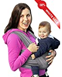 BandyBaby Baby Wrap Carrier Natural Cotton Original Baby Sling - Soft Nursing Breathable Cover, High Quality Comfortable Extra Soft Durable Use for Newborns up to 35 lbs, Best Baby Shower Gift