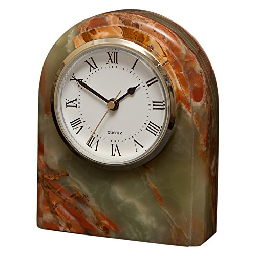 Polaris Clock Finish: Whirl Green Onyx