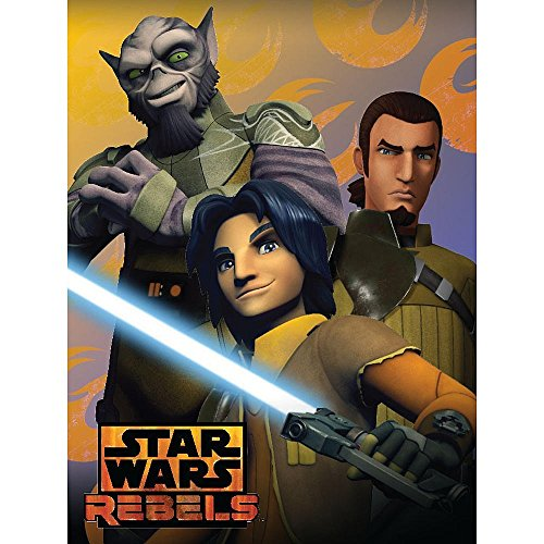 "Lucas Films' Star Wars Rebel Rebel Trio  Micro Raschel Throw, 46 x 60"" - 1"