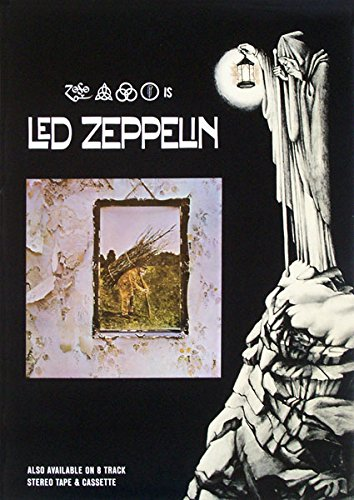 Vintage Music Poster Led Zeppelin - 4Th Album