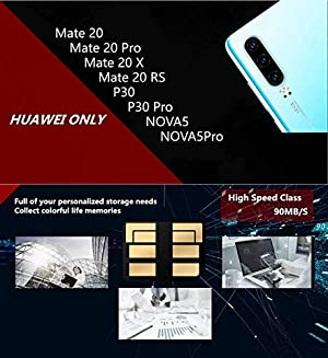 ThreeCat NM Card 128GB Original Nano Memory Card for Huawei P30 Mate 20, Mate 20 Pro, Mate 20 X, Mate 20 RS, NOVA 5, NOVA 5 Pro,90MB/S NM Nano Memory Card