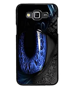 PrintDhaba Blue Eyes D-3332 Back Case Cover for SAMSUNG GALAXY GRAND MAX (Multi-Coloured)