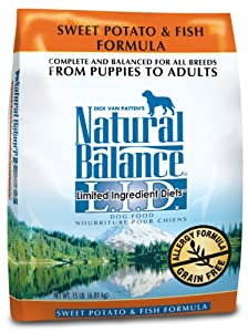 Natural Balance Dry Dog Food, Grain Free Limited Ingredient Diet Fish and Sweet Potato Recipe, 28 Pound Bag