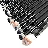 fenrad® Professionale Make Up Set - 20pcs Pro Trucco Pennelli Cosmetici Brushs set Make Up Spazzole Concealer Ombretto per Sopracciglia Fondazione Ombra Polvere Cosmetica Tools Kit(nero)