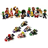 24 Nintendo Super Mario Kart Figure figures about 5cm SET IDEAL FOR ADVENT CALENDAR SEALED Wario Luigi from n64 wii gameboy