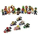 24 Nintendo Super Mario Kart Figur Figuren SET ca. 5cm OPTIMAL FÜR ADVENTSKALENDER OVP Wario Luigi aus n64 wii gameboy