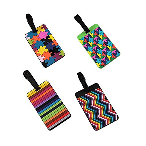 eqlefr-set-of-4-lovely-secure-luggage-tags-pvc-suitcase-luggage-tags-business-card-holder-travel-id-