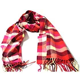 Super Soft Warm Winter Assorted Plaid Scarfs for Men and Women 12inches by 72 inches