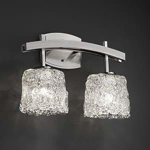 Justice Design Group GLA-8592-30-LACE-DBRZ Veneto Luce Collection