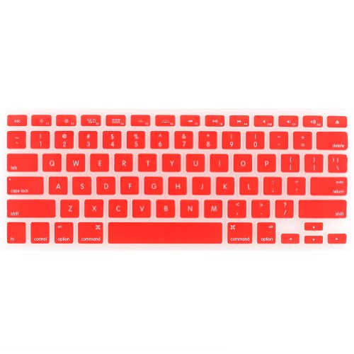 "{Factory Direct Sale} Keyboard Cover Silicone Skin For Macbook Pro 13"" 15"" 17"" (With Or W/Out Retina Display) Imac And Macbook Air 13"" - Red - Christmas Gift"