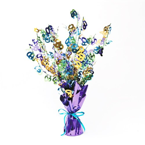 Creative Converting Bright and Bold 60th Birthday Foil Spray Centerpiece, Mini