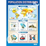 Population Distribution Geography Educational Wall ChartPoster in laminated paper A1 850mm x 594mm