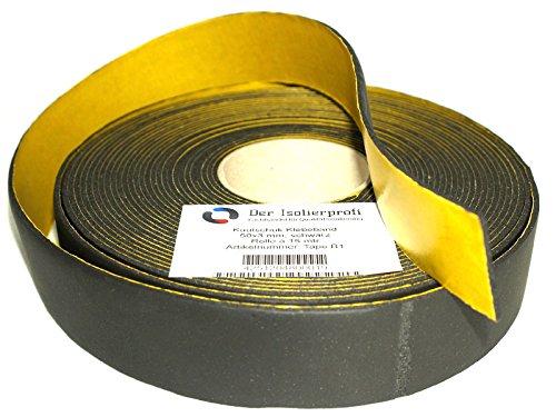 Kautschuk-Isolierklebeband-50-x-3-mm-schwarz-15-mtr-Original-Der-Isolierprofi-Kautschukklebeband