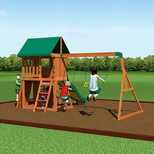 backyard discovery somerset all cedar wood playset swing set toys