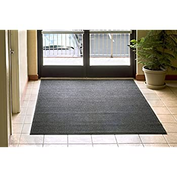 Andersen 280 WaterHog Fashion Polypropylene Fiber Entrance Indoor/Outdoor Floor Mat, SBR Rubber Backing, 3 Length x 2 Width, 3/8