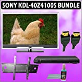 Sony Bravia Z-Series KDL-40Z4100/S 40-inch 1080P 120HZ LCD HDTV (Silver) + Sony DVD Player w/ Wall M