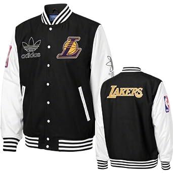 Los Angeles Lakers Adidas Originals Wool Varsity Jacket -Black by adidas