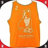 soccer junky(サッカージャンキー) チーム振り分け道着(ビブス)10枚セット オレンジ 132 F