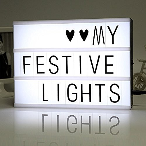 Light Up Your Life A4 Size Novelty Cinematic Light Box With 180 Letters and Symbols, Best Gift for Friends, Lover and Family