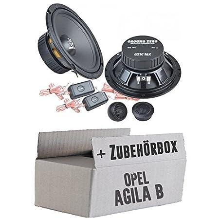 OPEL AGILA B-Ground Zero GZIC 16x-16cm-Système de haut-parleur Kit de montage