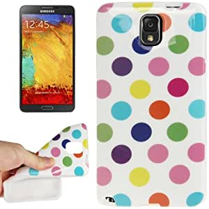 White and Colourful Dot Pattern TPU Protective Case for Samsung Galaxy Note 3 N9000