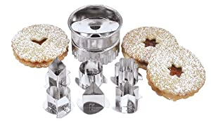 Fox Run Linzer Cookie Cutter Set