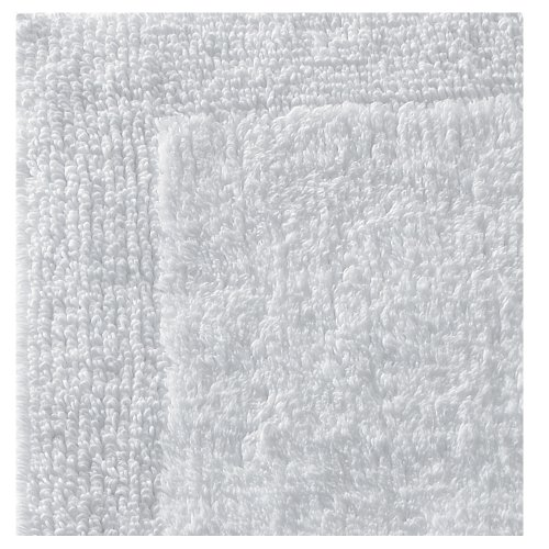 Regence Home Reversible Cotton Bath Rug, 20 by 33-Inch, White