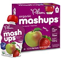 6 Pack Plum Kids Organic Fruit Mashups (Mixed Berry)