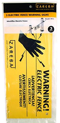 Woodstream Zareba Ws3 Zareba Electric Fence Warning Signs 3 /Pack
