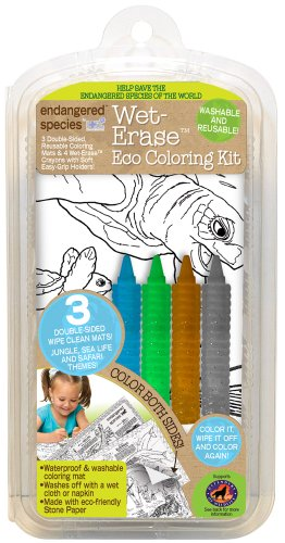 Endangered Species by Sud Smart Wet Erase Coloring Kit