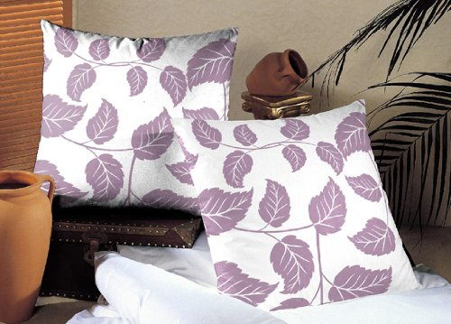 Traditional Cushion Cover Pillow Cover 2 Pcs Set 16 By 16 Inches Leafy Affair front-343719