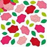 Rose & Leaves Felt Stickers (Pack of 90)